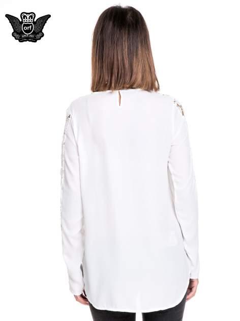 Biała koszula z gipiurą                                  zdj.                                  4