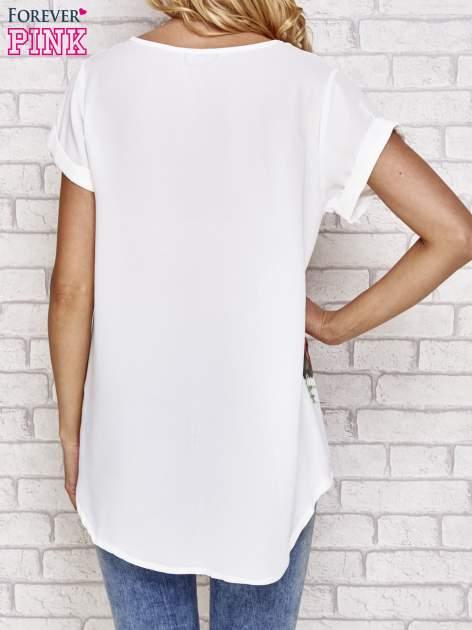 Biała koszula z motywem kwiatów                                  zdj.                                  4