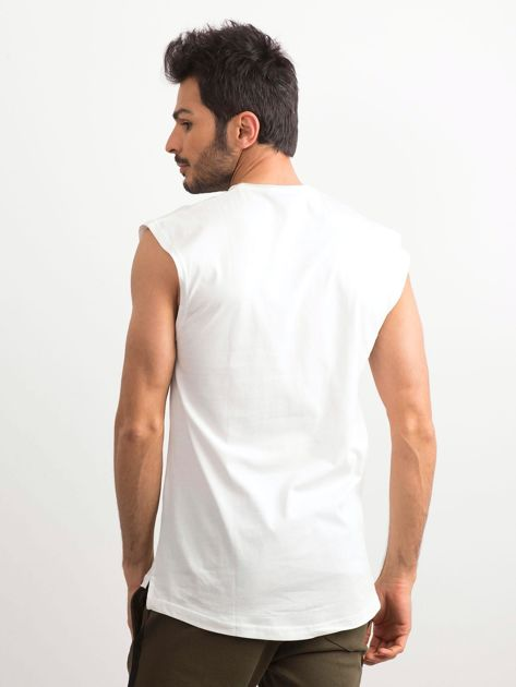 Biała koszulka męska z nadrukiem                              zdj.                              2