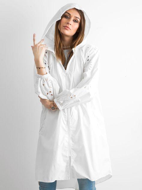Biała kurtka z kapturem                               zdj.                              5