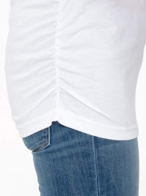 Biała luźna bluzka z rękawem 3/4                                  zdj.                                  8