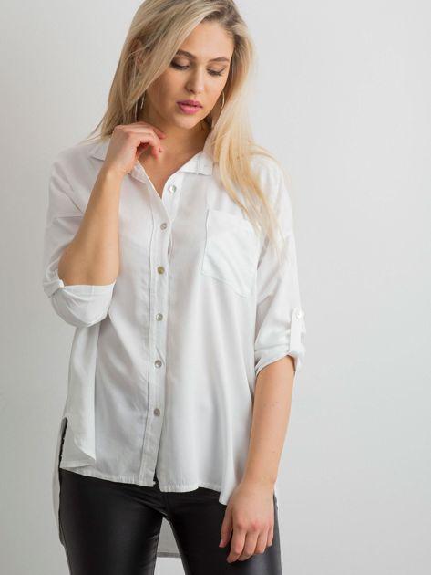 Biała luźna koszula                              zdj.                              1