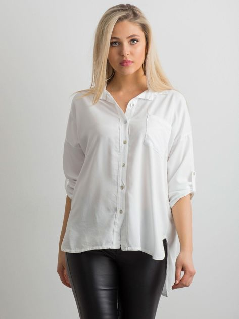 Biała luźna koszula                              zdj.                              5