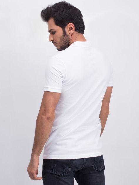 Biała męska koszulka polo Numerous                              zdj.                              2
