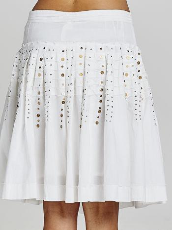 Biała rozkloszowana spódnica z cekinami Funk n Soul                                  zdj.                                  5