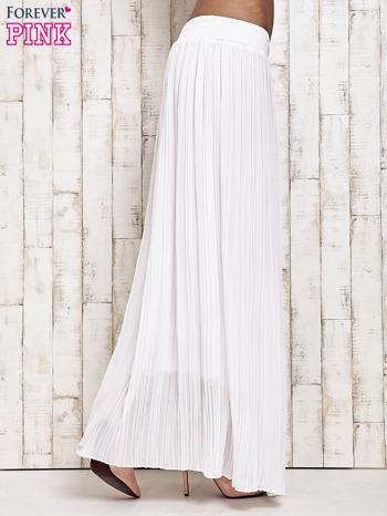 Biała spódnica maxi w plisy                                  zdj.                                  3