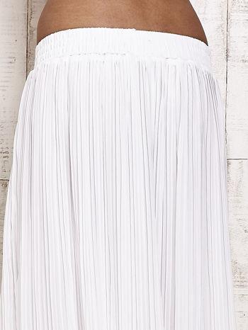Biała spódnica maxi w plisy                                  zdj.                                  5