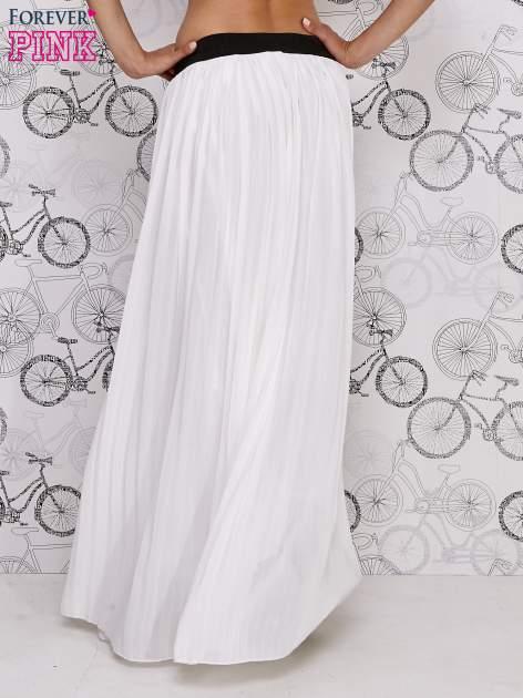 Biała spódnica maxi z ornamentowym paskiem                                  zdj.                                  3