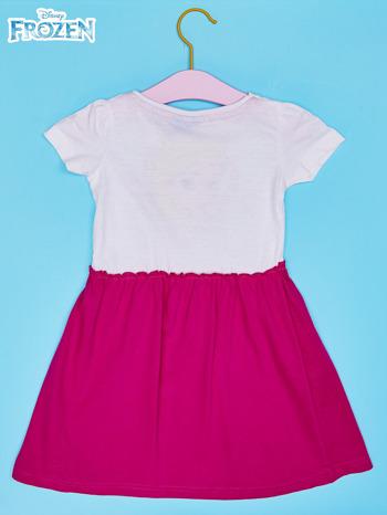 Biała sukienka dla dziewczynki KRAINA LODU                                  zdj.                                  2