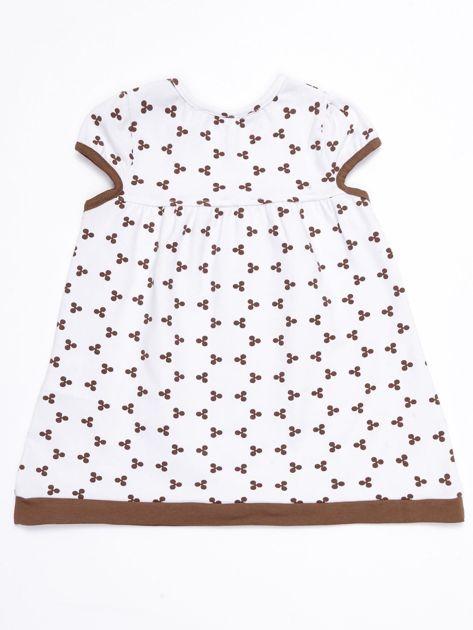 99a7472d28 Biała sukienka dziecięca z nadrukiem all over - Dziecko Dziewczynka ...