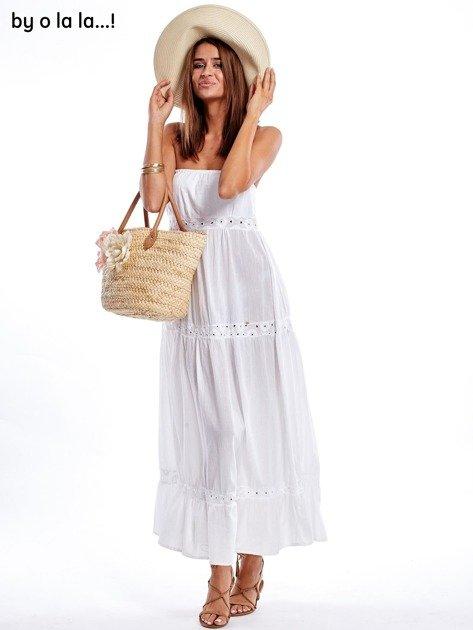 Biała sukienka maxi BY O LA LA                               zdj.                              2
