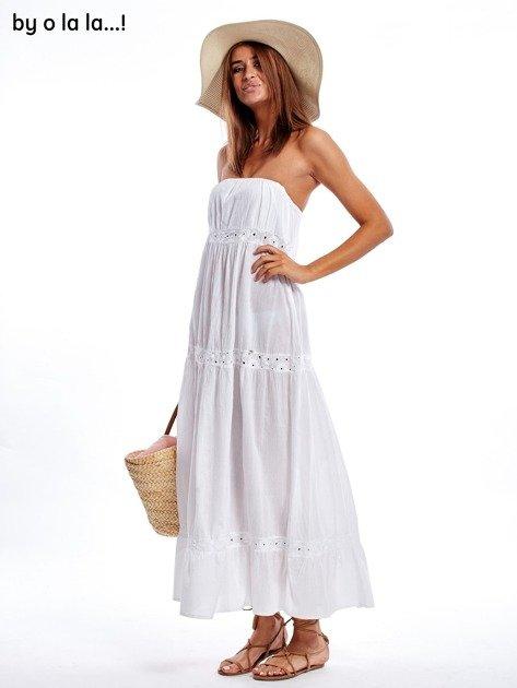 Biała sukienka maxi BY O LA LA                               zdj.                              10