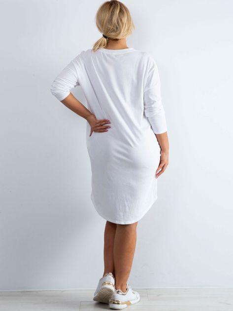 Biała sukienka oversize z bawełny                              zdj.                              2