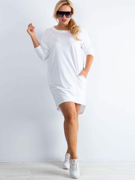 Biała sukienka oversize z bawełny                              zdj.                              6