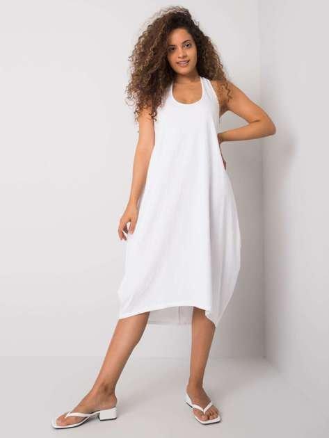 Biała sukienka z bawełny Unity OCH BELLA