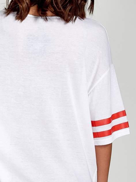 Biała sukienka z numerem w stylu baseball dress                                  zdj.                                  5