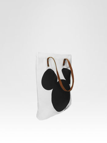 Biała torba shopper bag z motywem Mickey Mouse                                  zdj.                                  2