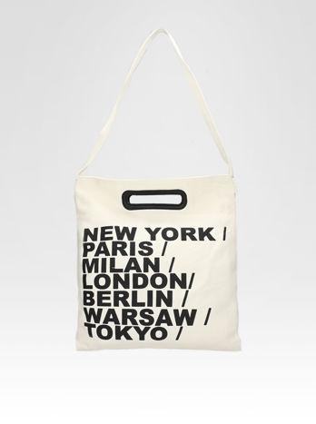 Biała torba shopper bag z printem                                  zdj.                                  5
