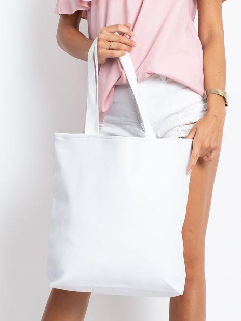 Biała torba z nadrukiem                              zdj.                              2