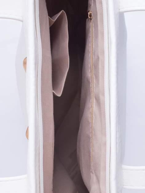 Biała torebka shopper bag z kokardką                                  zdj.                                  5