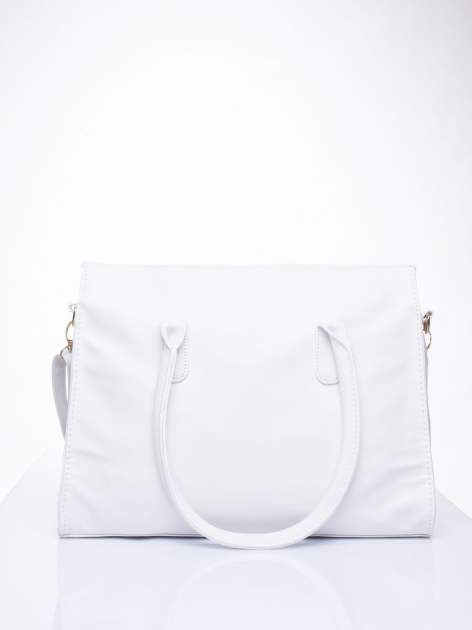 Biała torebka teczka z klapką                                  zdj.                                  4