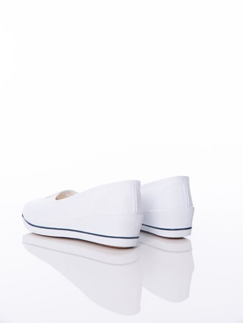Białe baleriny Sabatina na koturnach                              zdj.                              3