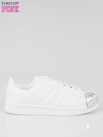 Białe buty sportowe material Enigmatic z metalicznym czubkiem                                  zdj.                                  1