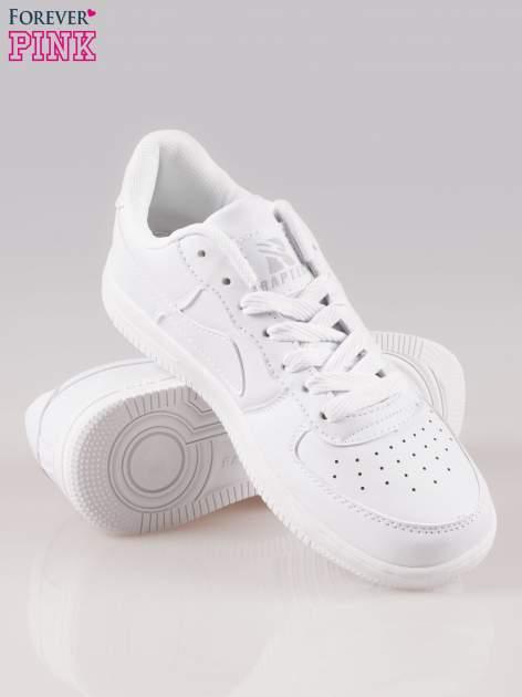 Białe buty sportowe na grubej podeszwie                                  zdj.                                  4
