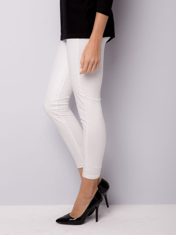 Białe dwustronne legginsy skórzane                                  zdj.                                  2