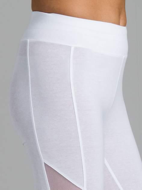 Białe legginsy z tiulową siateczką                                   zdj.                                  6