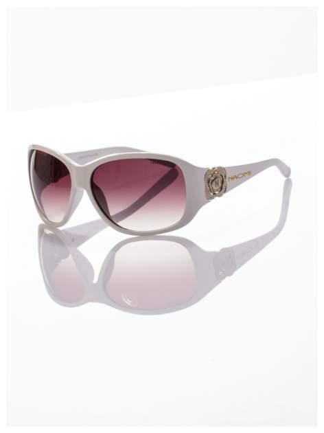 Białe piękne okulary przeciwsłoneczne dla kobiet NAOMI -KLASYKA