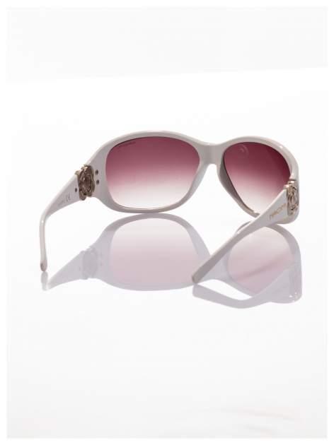 Białe piękne okulary przeciwsłoneczne dla kobiet NAOMI -KLASYKA                                   zdj.                                  2