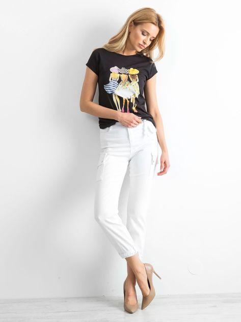 Białe spodnie Vintage                              zdj.                              4