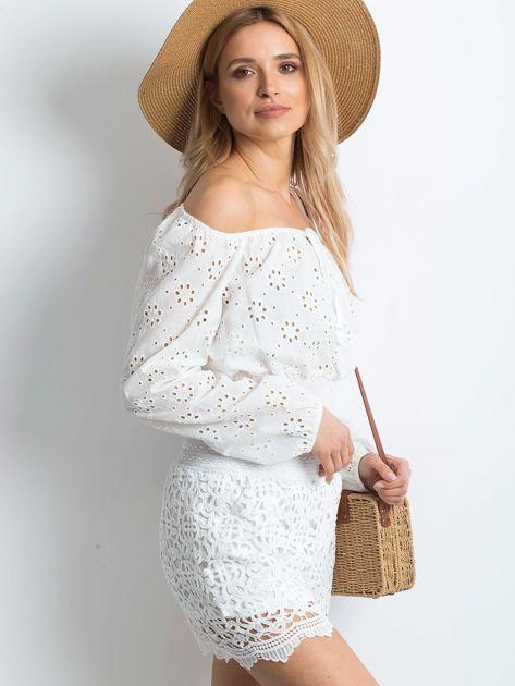 Białe szorty Crochet                              zdj.                              3