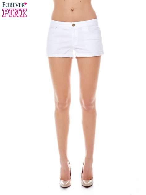Białe szorty z kieszeniami                                  zdj.                                  1