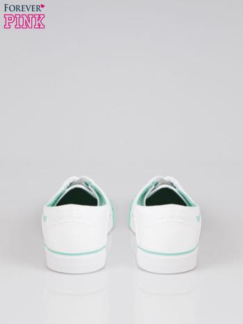 Białe tenisówki z miętowym wykończeniem                                  zdj.                                  3