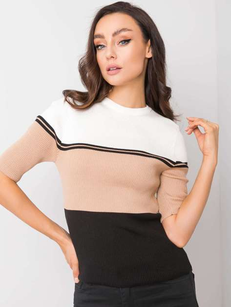 Biało-beżowa bluzka Samantha RUE PARIS