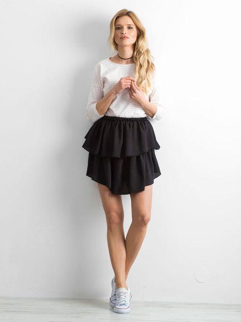Biało-brzoskwiniowa bluzka damska w paski                              zdj.                              4