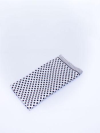 Biało-czarna chusta apaszka w groszki                                  zdj.                                  3