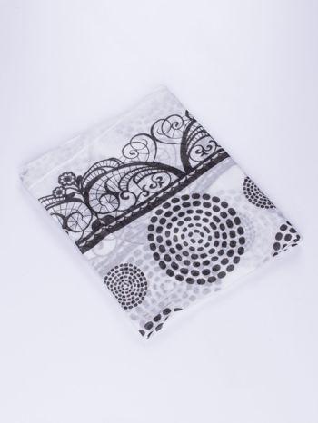 Biało-czarny komin w dekoracyjny abstrakcyjny wzór                                  zdj.                                  2