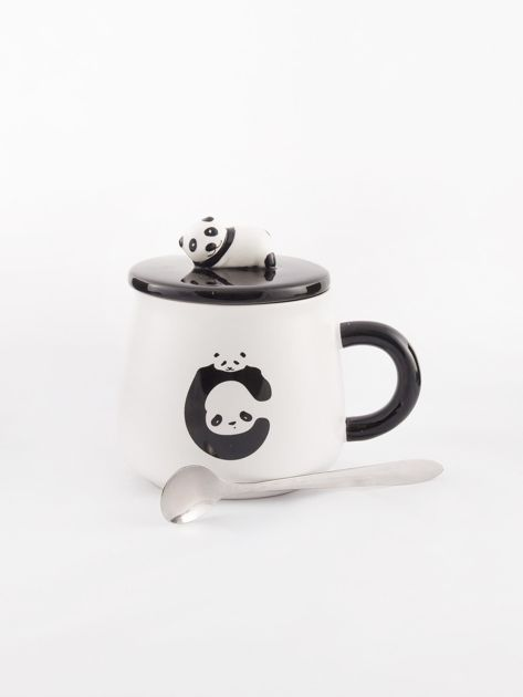 Biało-czarny kubek z pandą                              zdj.                              7