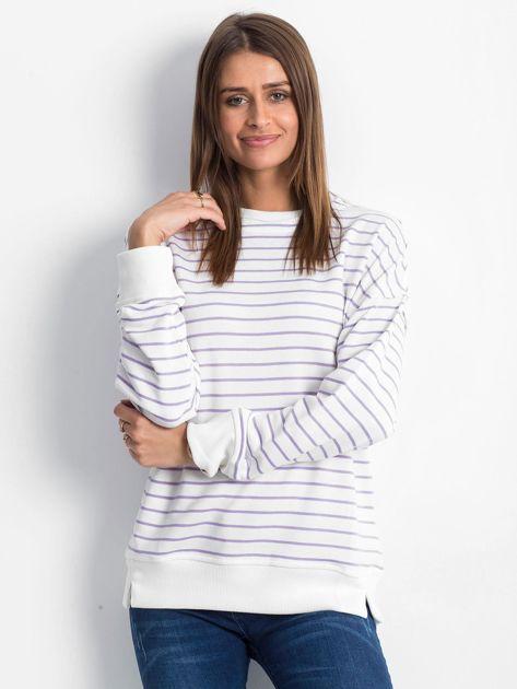 Biało-fioletowa bluza Continuously                              zdj.                              1