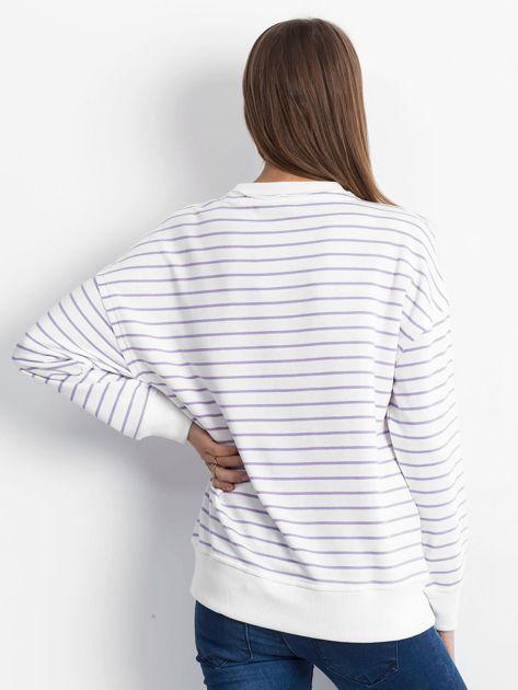 Biało-fioletowa bluza Continuously                              zdj.                              2
