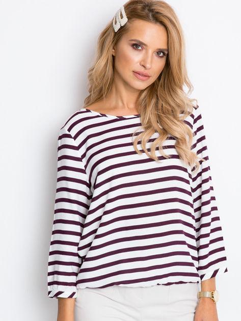 Biało-fioletowa bluzka Imagine                              zdj.                              3