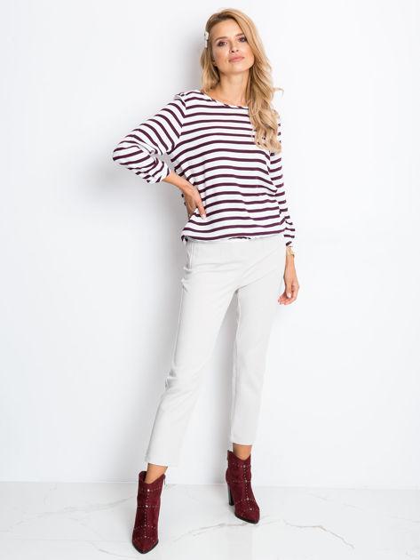 Biało-fioletowa bluzka Imagine                              zdj.                              4