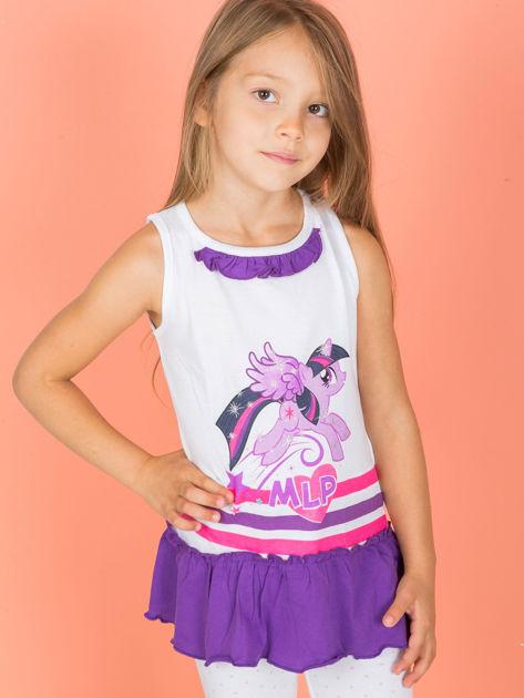 Biało-fioletowa tunika dla dziewczynki MY LITTLE PONY