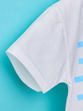 Biało-niebieski t-shirt chłopięcy FISTASZKI                                  zdj.                                  6