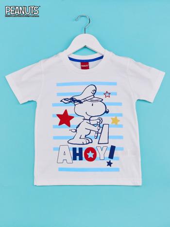 Biało-niebieski t-shirt chłopięcy FISTASZKI                                  zdj.                                  1
