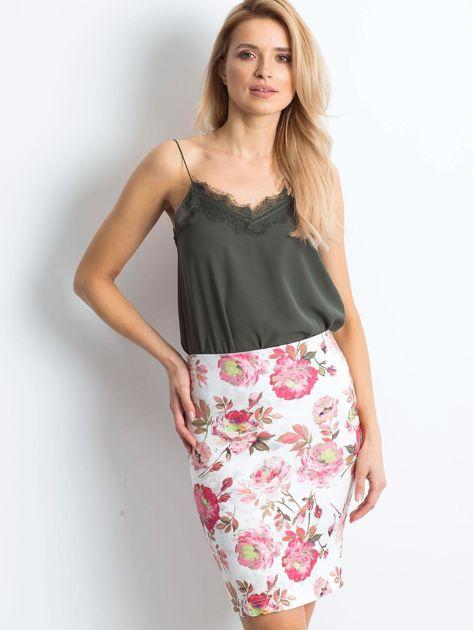 Biało-różowa spódnica Essential                              zdj.                              5