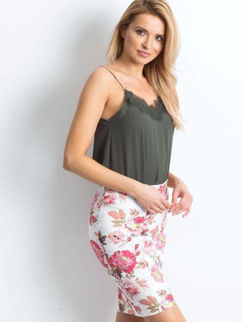 Biało-różowa spódnica Essential                              zdj.                              3